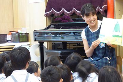 キャンパスに隣接する併設幼稚園