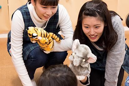 地域の子育てを支える学内施設昭和学院もこもこ・こどもセンター